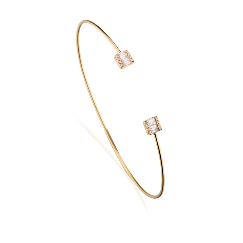 Diamond Baguette Flex Bangle