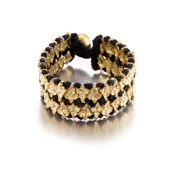 Black Double Clover Metal Bracelet