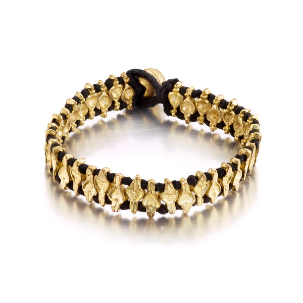Black Single Clover Bracelet