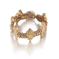 Taupe Diamond Shaped Woven Bracelet