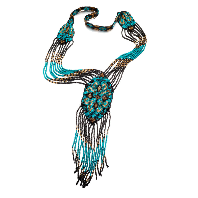 Turquoise Water Beaded Necklace