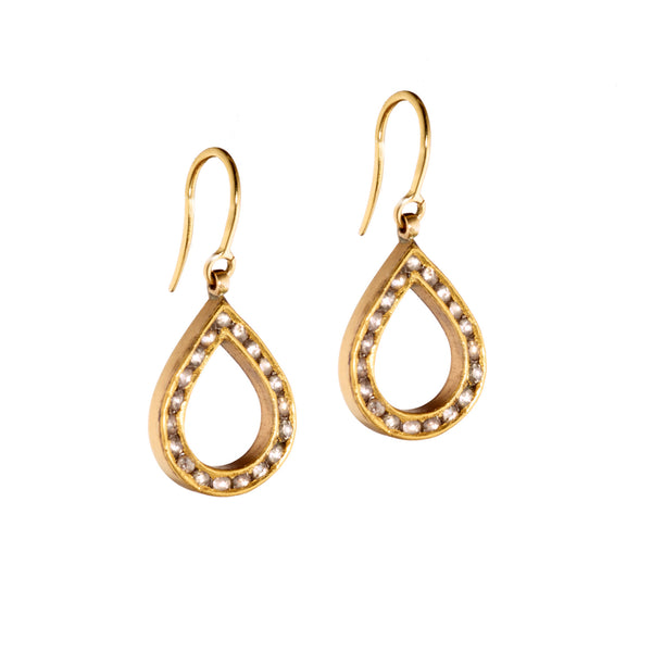 Polki Diamond Tear Drop Earrings