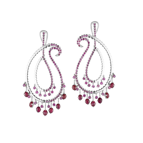 Ruby Paisley Duo Earrings