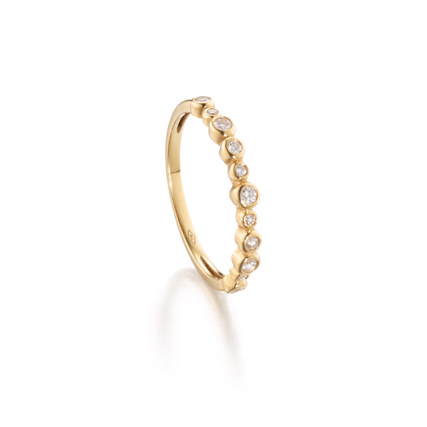 Diamond Jigsaw Stackable Ring