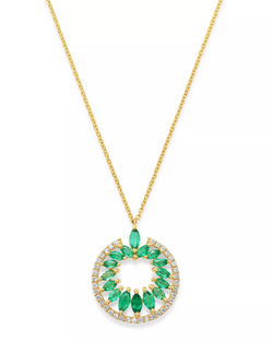 Diamond & Marquis Emerald Necklace