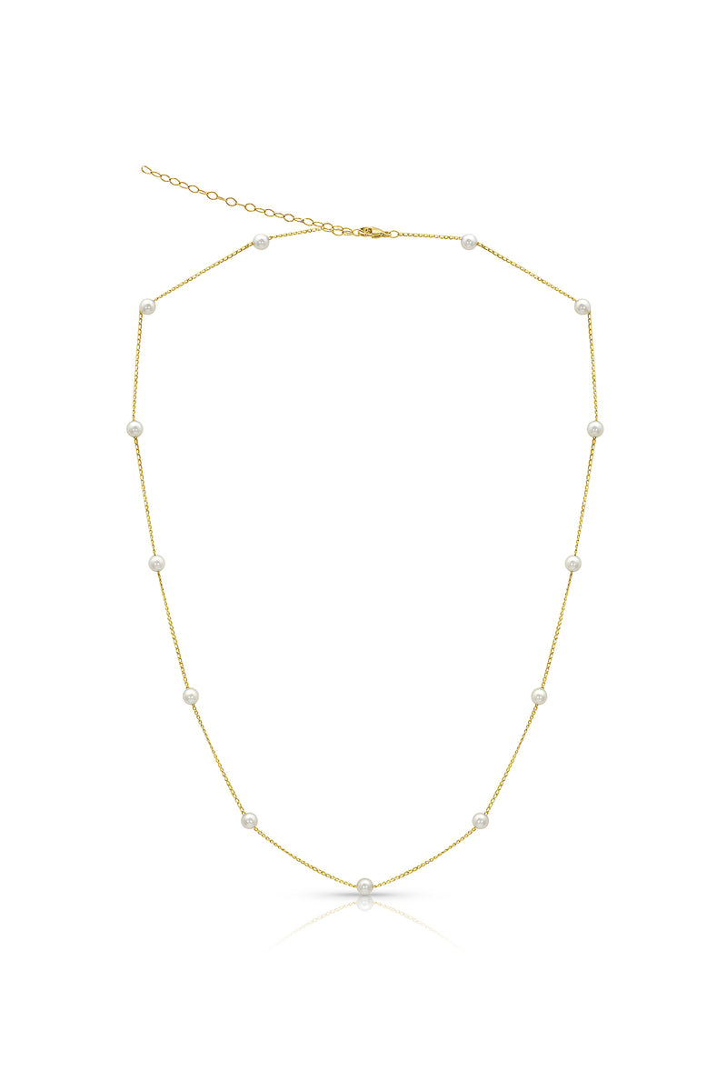 Petite Akoya Cultured Pearl Chain Necklace