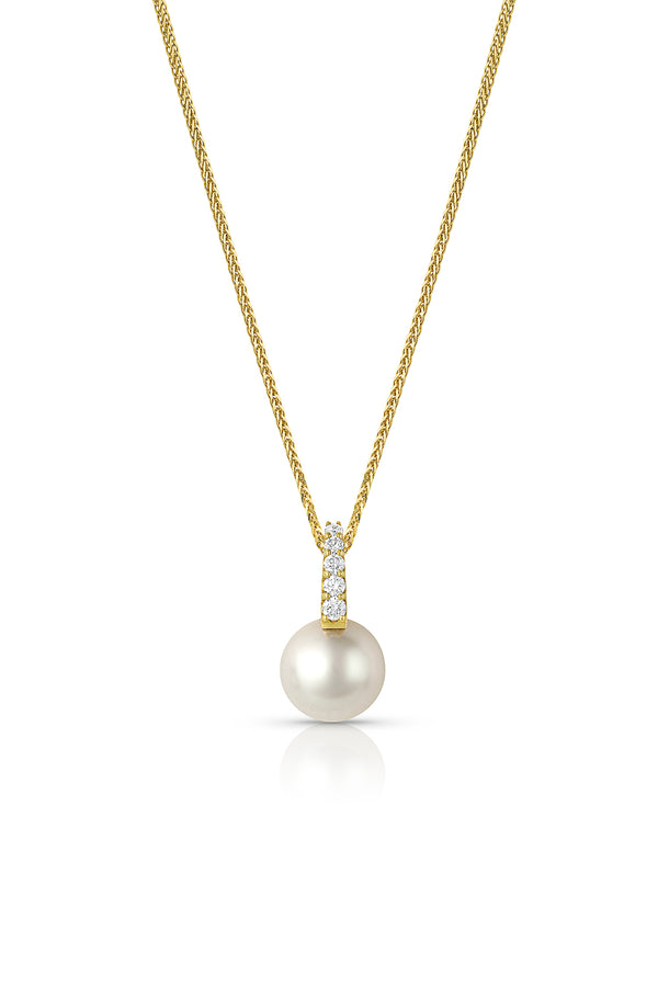 South Sea Pearl Diamond Drop Necklace