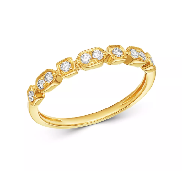 Rectangle & Round Diamond Ring