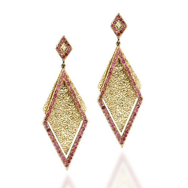 Shimmer Pink Tourmaline Earrings