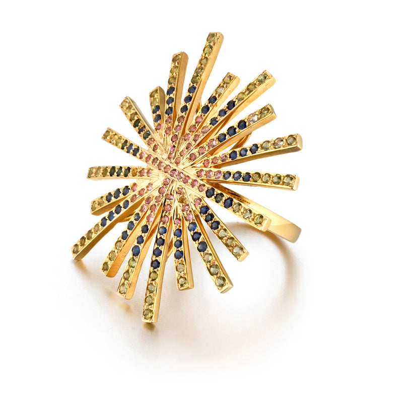 Starburst Fancy Sapphires Ring
