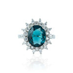 The Pave Diamond Ring - London Blue