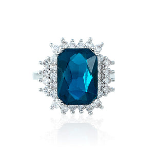 The Pave Diamond Ring - Sapphire