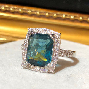 The Art Deco Style Ring - London Blue