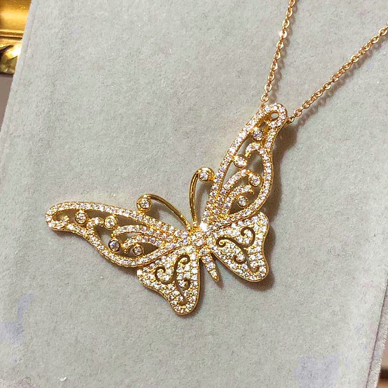 The Butterfly Drop Necklace - 2 colours