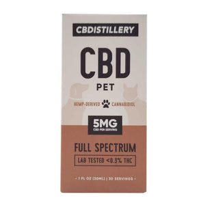 CBDistillery Pet Tincture 150mg/5mg per serving Box Front
