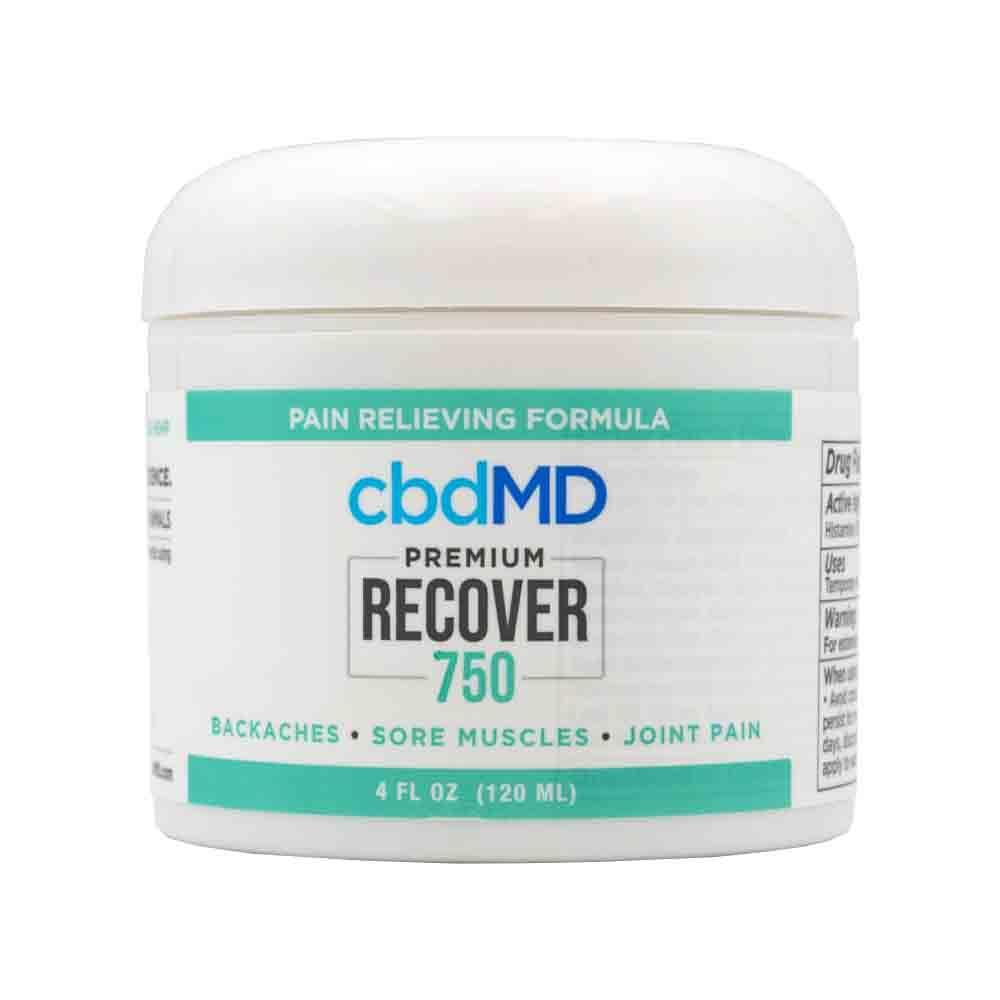 cbdMD - Premium Recover CBD Gel Topical - Broad Spectrum CBD Hemp Extract - 750mg 4oz