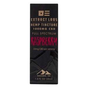 Extract Labs Tincture Raspberry 1000mg Box Front