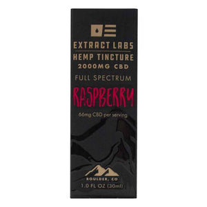 Extract Labs Tincture Raspberry 2000mg Box Front