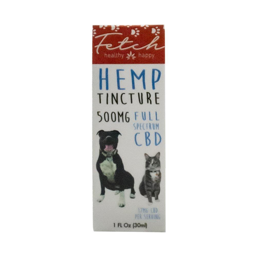 Fetch by Extract Labs 500mg Pet Hemp Tincture Box Front