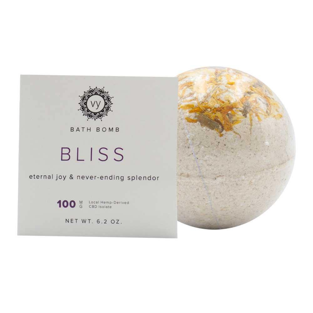 Extract Labs - Vital You Bliss CBD Bath Bomb - Isolate Hemp Extract - 100mg 1ct