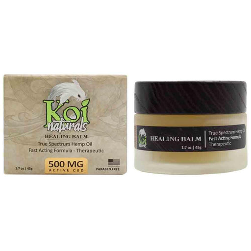 Koi Naturals Healing Balm 500mg Box and Jar
