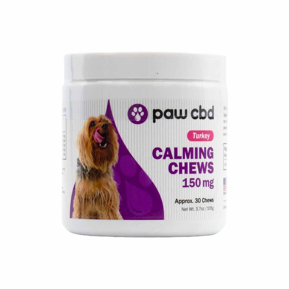 Paw CBD Calming Dog Soft Chews Turkey CBD Hemp Extract-Infused - 150mg, 300mg