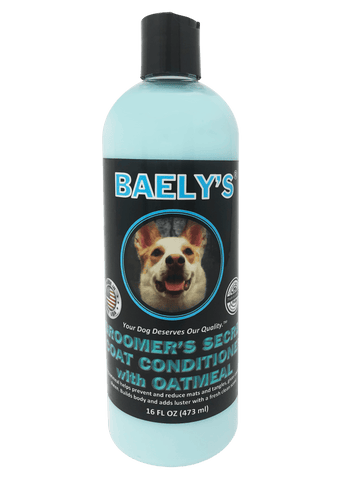 Natural Dog Conditioner with Oatmeal by Baely's Groomer's Secret - Soothing for Itchy Irritated Dogs