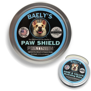 Baely's Paw Shield Dog Paw Balm and Baely's Nose & Callus Balm Bundle