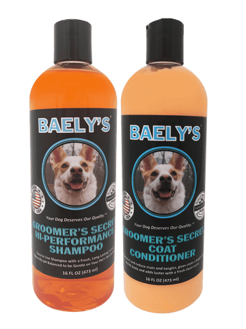 Natural Dog Shampoo and Dog Conditioner with Aloe Bundle by Baely's Groomer's Secret