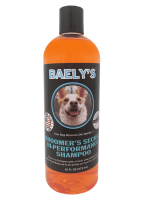 Natural Dog Shampoo with Aloe by Baely's Groomer's Secret - Deodorizing Dog Shampoo