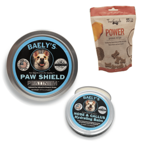 Image of Baely's Paw Shield Dog Paw Balm and Treat Simple Dog Treats POWER BUNDLE
