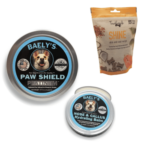 Baely's Paw Shield Dog Paw Balm and Treat Simple Dog Treats SHINE BUNDLE