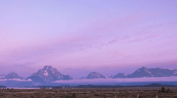 Alpenglow in Jackson Hole