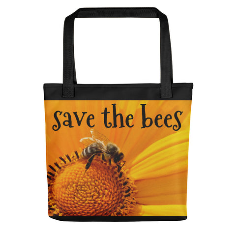 Z Save The Bees Tote Bag - Scattered Flowers