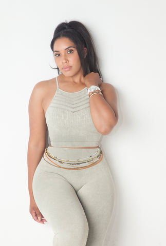 Vintage High Waist Leggings Set