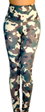 "Mama Cinch ""Ultimate Sculpt""  Yoga Pant: Green Camouflage"