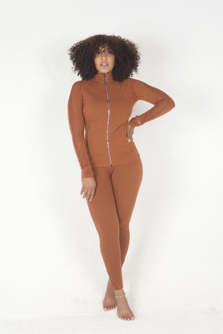 """Peanut Brittle"" 2 Piece Yoga Set"