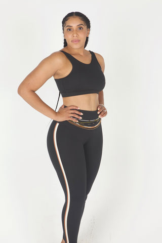 """Cross The Line"" 2 piece yoga set"