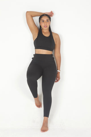 """Buckle Down"" 2 piece yoga set"