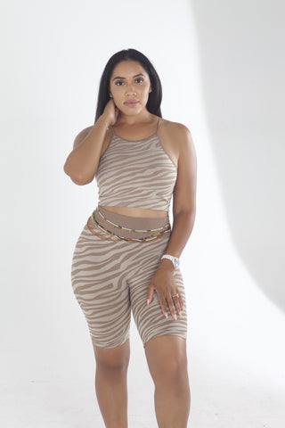"""Zeze"" high waist short set"