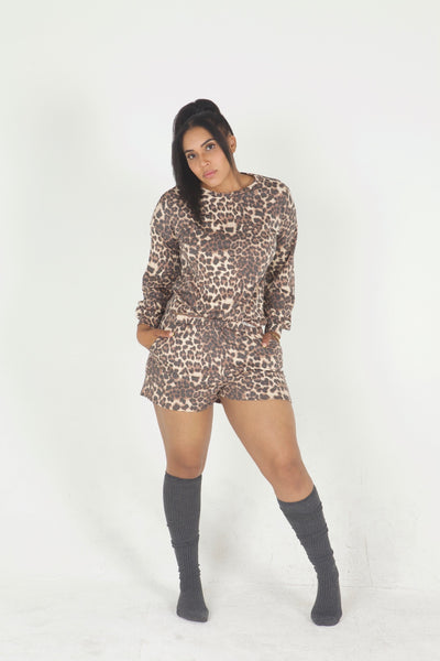 Loungin' Leopard 2 Piece Set