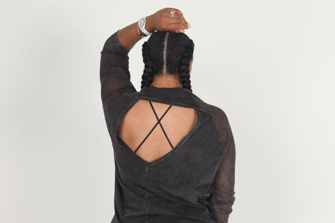 Netted Backless Top