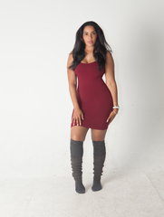 Sporty Shorty Dress in Black, Wine, and Creme