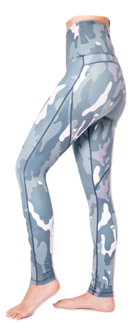 "Mama Cinch ""Ultimate Sculpt""  Yoga Pant: Blue Camouflage"