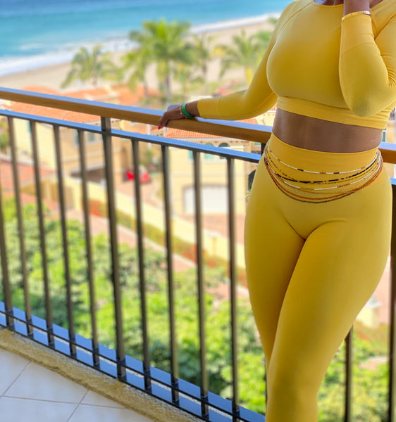 """Bumble Bee"" 2 piece seamless set"