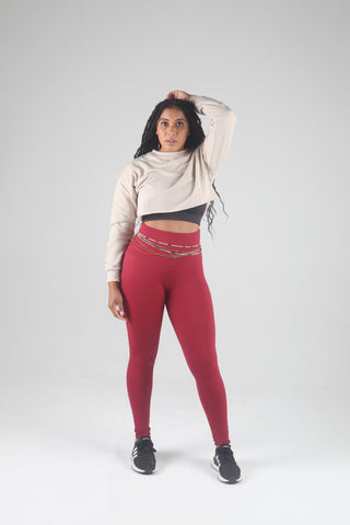 "Mama Cinch ""Ultimate Sculpt"" Yoga Pant: Fuchsia"