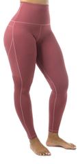 "Mama Cinch  ""Ultimate Sculpt"" Yoga Pant: Rose Pink"