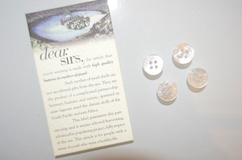 Mother Of Pearls Packet of 10 Buttons