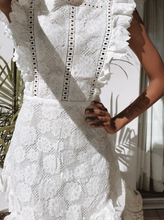 Load image into Gallery viewer, Hannah Shania White Lace Dress