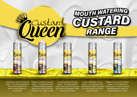CUSTARD QUEEN 50ml - CrazyCloudzzz | Hardware | Premium E Liquid | Accessories | Coils | Batteries